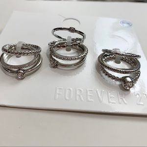 Assorted ring set silver